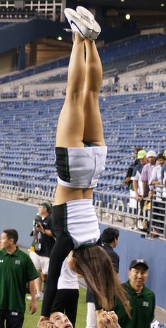 going upside down by bulgo125, via Flickr from Kythoni's Cheerleading: Collegiate board http://pinterest.com/kythoni/cheerleading-collegiate/ m.8.2