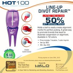 Your brand will be right on the mark with our Line-Up Divot Repair. #promoproducts #golf #promoSale #branding #promotionalproducts #marketing #advertising #gift #adspecialties #sale #bestseller #Halobrandedsolutions #golftool #corporategifts
