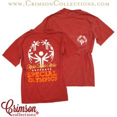 Alpha Sigma Alpha Special Olympics shirt! Now available at Crimson Collections!
