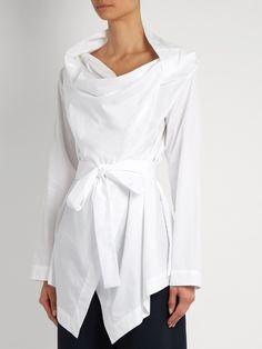 Vivienne Westwood Anglomania Square cotton-poplin blouse