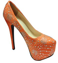 orange high heel