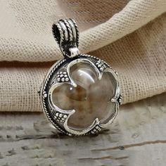 Pendant «Gotland» with a rock crystal ball. Viking Age. Viking jewelery. Silver viking talisman