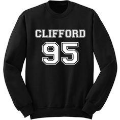 Clifford 95 Sweatshirt Michael Clifford 5 Sos Sweat Shirt Band Shirt... ($25) ❤ liked on Polyvore featuring tops, hoodies, sweatshirts, black, women's clothing, crew neck sweatshirts, woven shirts, checked shirt, checkered shirt and summer tops