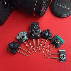 Miniature Camera Paper Clips