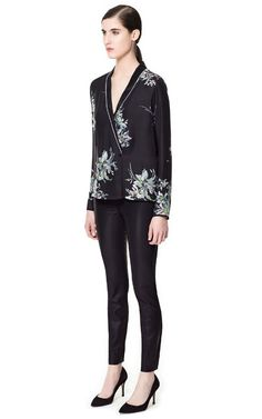 Leather Leggings - Zara Zara Outlet a787c1447