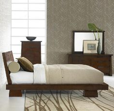 Here's How to Bring a Touch of Asia to Your Bedroom Decor: Contemporary Asian-Style Bedroom
