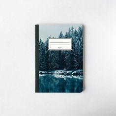 Cuaderno Bosque Congelado  Cubierta de Bosque  Hojas blancas