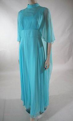 1970's Silk Chiffon Goddess Dress