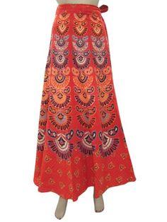 Peasant Sarong Skirts, Red Jaipuri Print Gypsy Wraparound Skirts Mogul Interior,http://www.amazon.com/dp/B00FIYPRX8/ref=cm_sw_r_pi_dp_JMxssb1Q5NV1ZJMH
