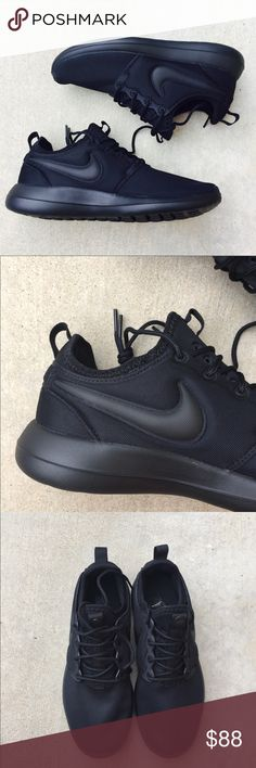 {Nike} Black Roshe Two Women's size 8, Brand new in box without lid, only tried on at Nike store. .   ❌ NO TRADES - SELLING ON POSH ONLY ❌ ❌ NO LOWBALLING ❌  ✅ Bundle Discounts ✅ Ship Next Day of Purchase  💯 % AUTHENTIC Nike Shoes Sneakers