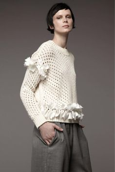 Contemporary Knitwear - pretty embellished sweater // M.Patmos Resort 2017