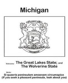 Stunning Michigan Coloring Book Images New Printable Coloring
