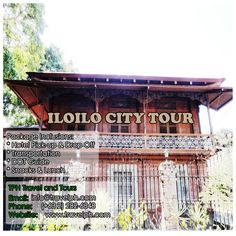 ILOILO CITY TOUR Minimum of 2 persons  For more inquiries please call: Landline: (+63 2)282-6848 Mobile: (+63) 918-238-9506 or Email us: info@travelph.com #Iloilo #Philippines #TravelPH #TravelWithNoWorries Iloilo City, Travel Companies, Travel Tours, Travel Agency, Manila, Philippines, Explore, House Styles, Exploring