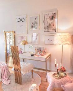 Bedroom Decor For Teen Girls, Room Ideas Bedroom, Study Room Decor, Stylish Bedroom, Aesthetic Room Decor, Cozy Room, Dream Rooms, My New Room, House Rooms