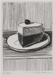 Wayne Thiebaud ( the simplicity & beauty of lines under complete control...)