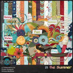 In the Summer Digital Scrapbooking Kit by Nibbles Skribbles & Flower Scraps $5.99