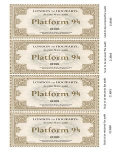 Imagine discovering a one-way travel ticket on the Hogwarts Express, inside the copy of Harry Potter that you found on the library shelves. I created these b… Imagine discovering a one-way travel ticket on the Hogwarts Express, inside the copy of Harry Potter Halloween, Harry Potter Ticket, Harry Potter Letter, Classe Harry Potter, Harry Potter Thema, Cumpleaños Harry Potter, Harry Potter Christmas, Harry Potter Wedding, Harry Potter Birthday