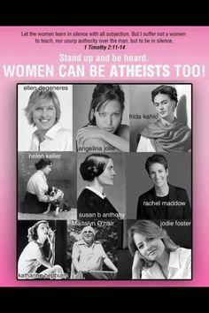 Female atheists