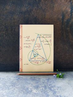 Golden Ratio. Geometry Embroidered A5 Notebook. Fibonacci's Geometric Journal. Maths Men's Cream Notebook. Back to School. Sciences Art Book