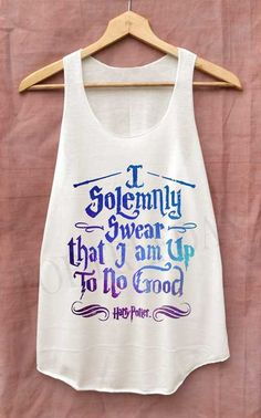 I Solemnly Swear that I am Up To No Good Space Shirt Harry Potter Shirts Tank Top Women Size S M L on Etsy, $14.99