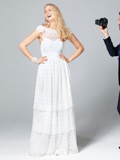 Hot white lace dress from Burdastyle.de