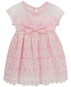 0e0428b44 Rare Editions Floral-Lace Illusion Dress, Baby Girls (0-24 months) &  Reviews - Dresses - Kids - Macy's