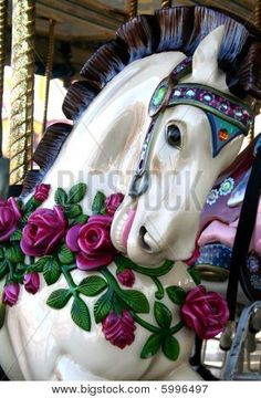 *FLORAL CAROUSEL HORSE