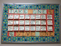 25 Ways to Use Sticky Notes in the Classroom - WeAreTeachers Interactive Bulletin Boards, Ra Bulletin Boards, Kindness Bulletin Board, Math Coach, Resident Assistant, Responsive Classroom, Teacher Hacks, Teacher Stuff, School Classroom