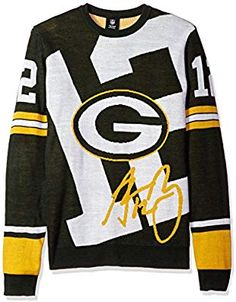 ee6520260 Amazon.com   Green Bay Packers Rodgers A.  12 Loud Player Sweater -