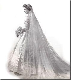 Jacqueline Kennedy formal wedding portrait