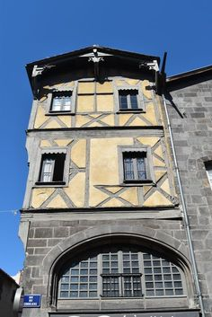Clermont Ferrand, Construction, Rhone, France, Culture, Mansions, House Styles, Alps, Old Houses