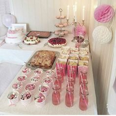 Bilderesultat for navnefest pynt Ballerina Baby Showers, Shower Tips, 18th Birthday Party, Pin On, Food Decoration, Pink Parties, Festival Wedding, Wedding Desserts, Bridal Shower Decorations