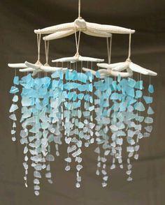 Sea Glass and Starfish Mobile