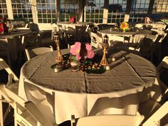 setting up for a luau themed rehearsal dinner tonight at herrington on the bay