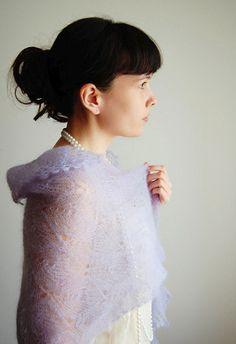 Lilac Love Lace Shawl | AllFreeKnitting.com