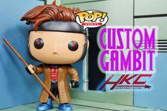 Funko Pop Gambit (Jim Lee style) (Funko Pop!) Custom Miniature / Figurine