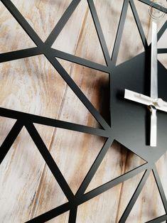 Metal Wall Clock Metal Wall Art Metal Wall Decor Office | SALE! Buy now on Etsy!  home decor, metal wall art, wall panel, wall decor, wall sign, wall art, wall hanging, metal sign, wall sign, polygonal, loft, scandi decor, scandinavian, decor, interior my home, home decor ideas, geometric clock, wall clock, loft clock, metal clock