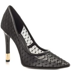 Babbitt - Black Multi Fabric-Pointy Toe with Rose Gold Heel Tip