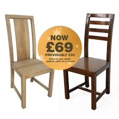 These Fair Trade Dining Chairs Are Beautifully Hand Crafted From  U0027environmentally Friendlyu0027 Rubberwood. Chairs Are Sold In Sets Of 2 And Are  Currently ...
