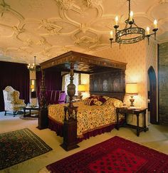 Picture is inside Thornbury Castle. The Castle was designed around 1510 for Edward Stafford, third Duke of Buckingham, but was not completed after Stafford was executed for treason. King Henry VIII and his second wife, Anne Boleyn once stayed at the Castle for 10 days in 1535.