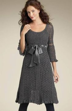 Awesome and Stylish Crochet Dress Patterns For Wedding Guests Part crochet dress pattern; crochet dress pattern for women; Black Crochet Dress, Crochet Skirts, Crochet Clothes, Knit Dress, Dress Skirt, Sweater Dresses, Sweater Cardigan, Dress Shoes, Lace Dress Pattern