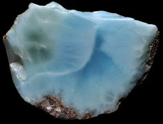 ~ Larimar is a variety of pectolite, it is currently found in only one location in the world - in a small area of a mountainous region of the Dominican Republic. ~