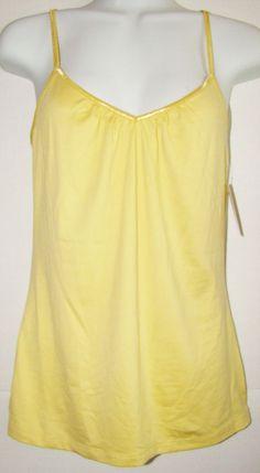 APT. 9 ~ Woman's Spaghetti Strap Cami ~ Size Medium ~ Yellow  | eBay