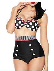 clásico traje de baño bikini halter de las mujeres