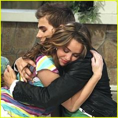 Miley And Jake (Hannah Montana) it may be  Stupid but it is my guilty pleasure