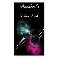 Modern makeup artist business card