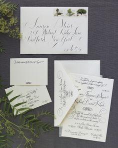 Wedding Ideas | Wedding Themes | DIY Wedding | Once Wed   calligraphy invites