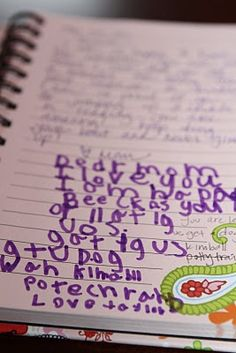 Buy a fun journal, write a note and stick it under your child's pillow. They can write back to you. :) so sweet