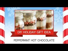 Peppermint Hot Chocolate Jars - DIY Holiday Gift Idea