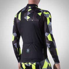 Men's Spectrum Collection Neon Yellow Thermal Aero Long Sleeve Jersey